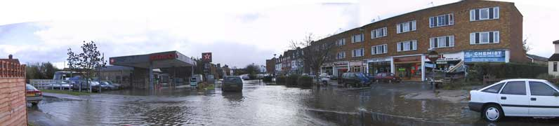 Flood in Welham Green.
